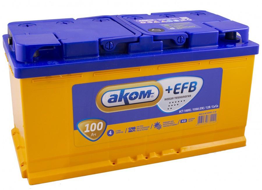 Аккумулятор Аком +EFB 100A, о/п