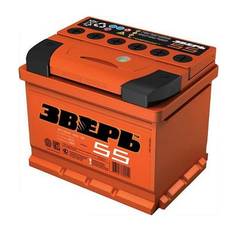 Аккумулятор Зверь 55 L+
