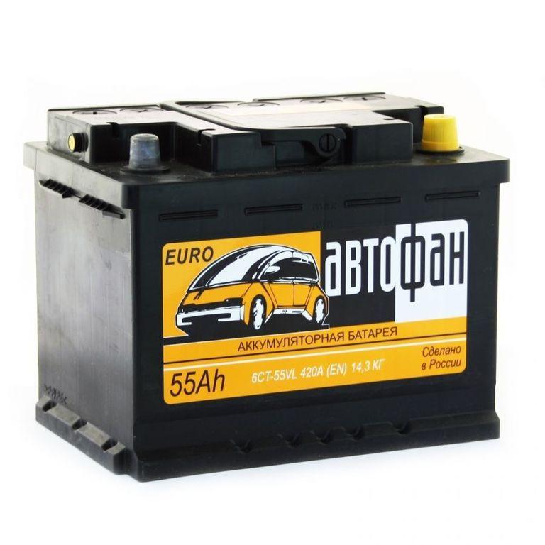 Аккумулятор Автофан 55 R+