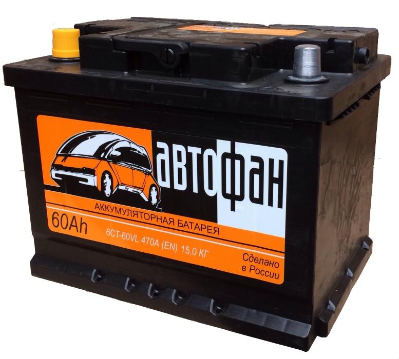 Аккумулятор Автофан 60 R+