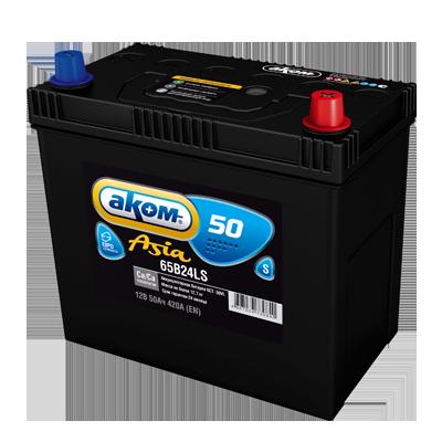 Аккумулятор AKOM Asia 50 R+