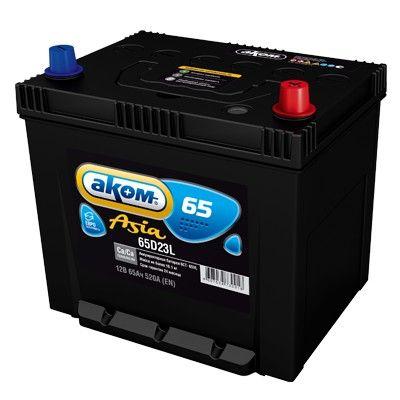 Аккумулятор AKOM Asia 65D23L R+