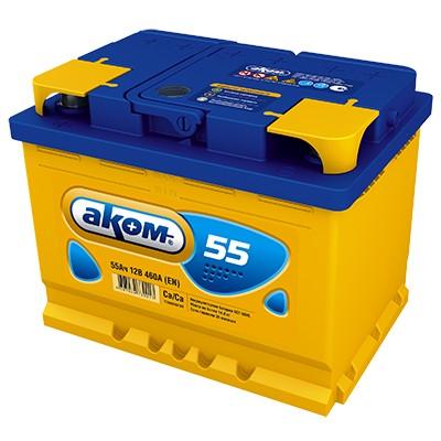 Аккумулятор AKOM Стандарт, 55A R+