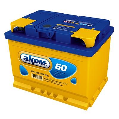 Аккумулятор AKOM Стандарт, 60A R+ низкий