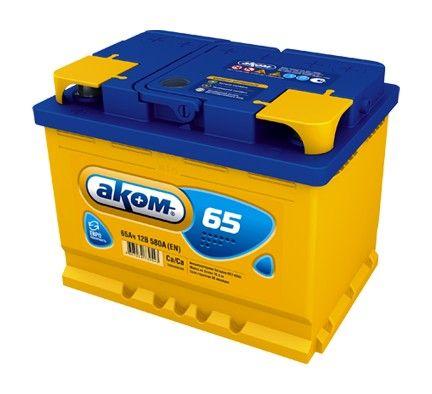 Аккумулятор AKOM Стандарт, 65A R+