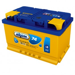 Аккумулятор AKOM 74A R+
