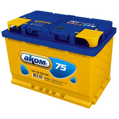 Аккумулятор AKOM 75A L+