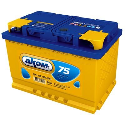 Аккумулятор AKOM Стандарт, 75A R+
