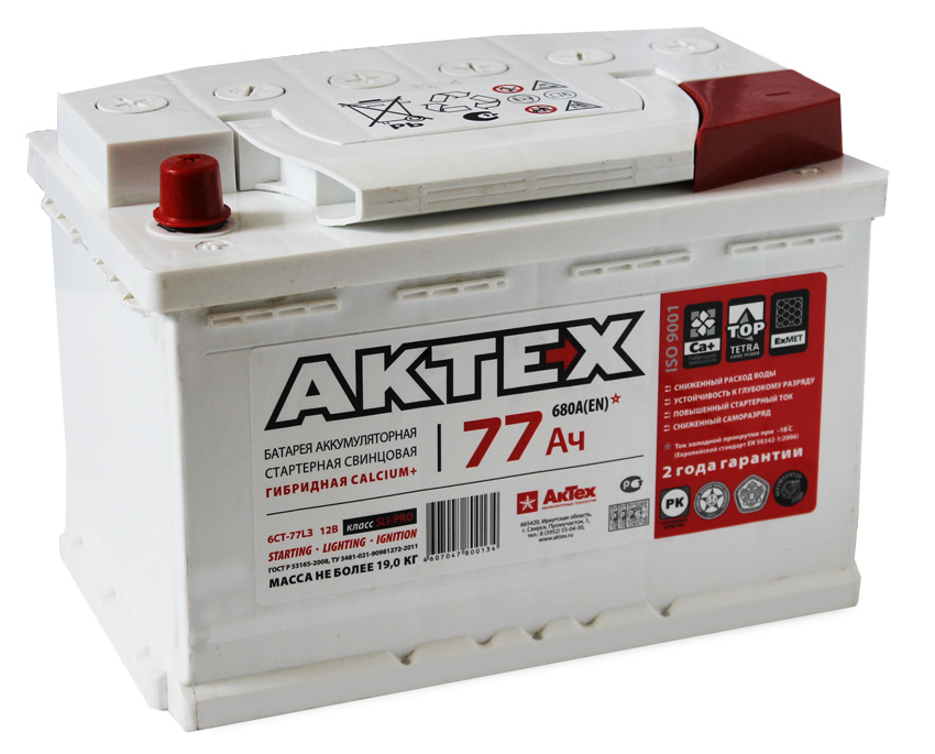 Аккумулятор АкТех 77 L+