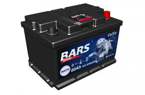 Аккумулятор Bars Silver 60A, R+