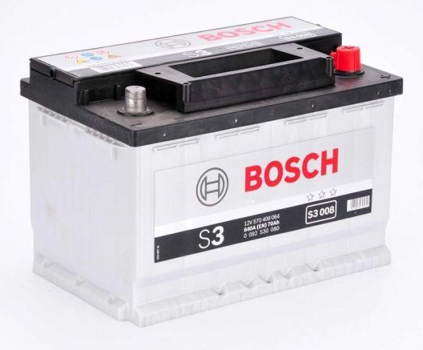 Аккумулятор Bosch S3 70 R+ S3008