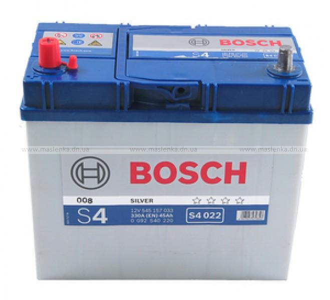 Аккумулятор Bosch S4 45 L+ S4022
