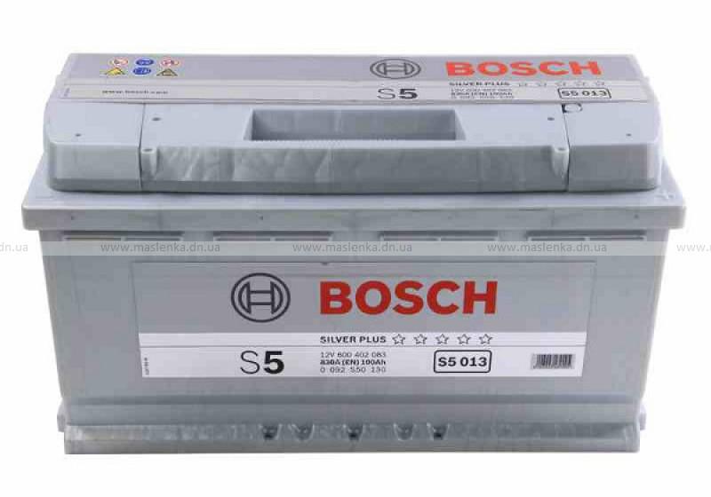 Аккумулятор Bosch S5 100 R+ S5013