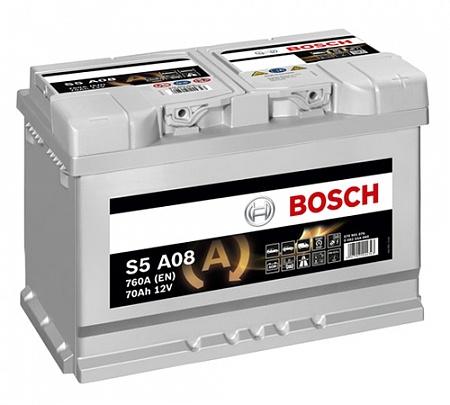 Аккумулятор Bosch S5 AGM 70 R+ S5A08