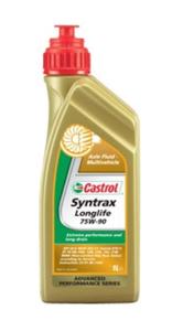 Масло трансмиссионное Castrol Syntrax LongLife, 75W-90