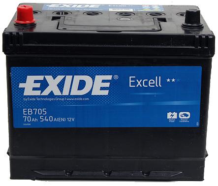 Аккумулятор Exide Excell 70L+