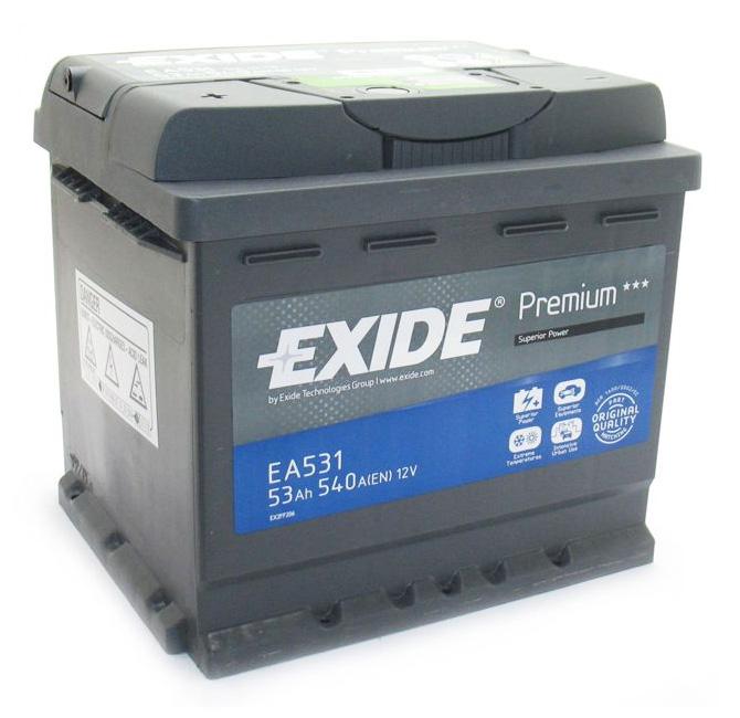 Аккумулятор Exide Premium 53 R+