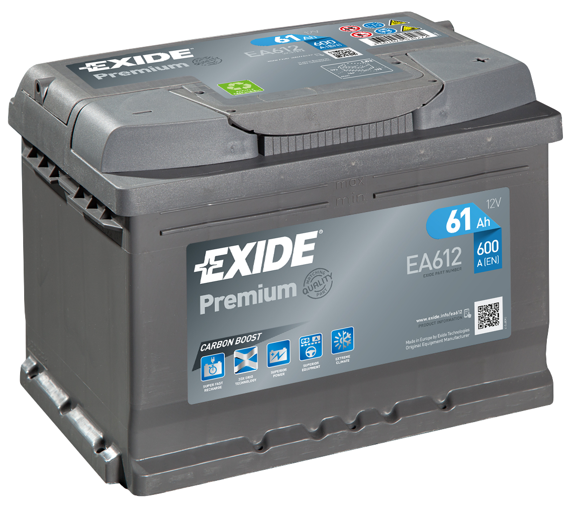 Аккумулятор Exide Premium 61 R+