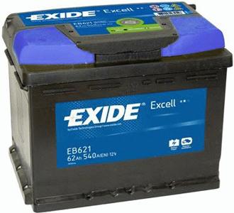 Аккумулятор Exide Excell 62 L+
