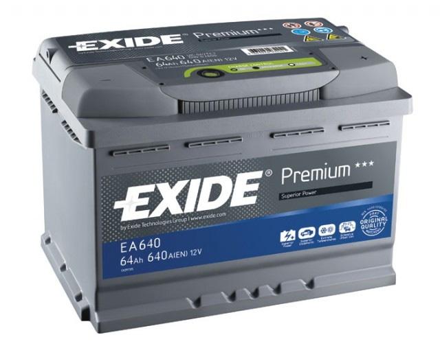 Аккумулятор Exide Premium 64 R+