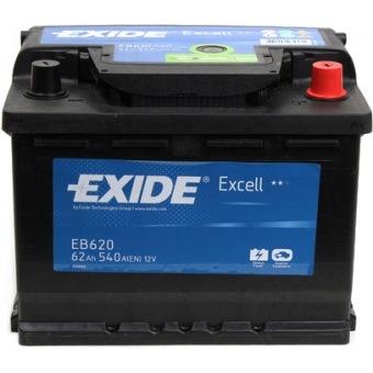 Аккумулятор Exide Excell 62 R+