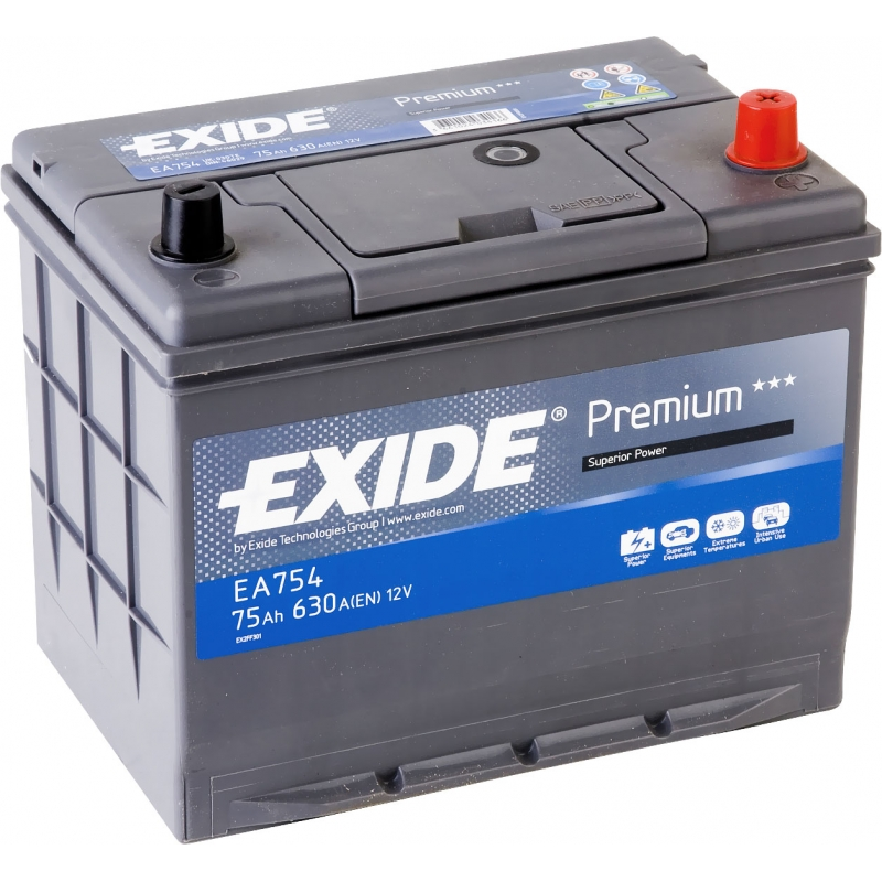 Аккумулятор Exide Premium 75 R+