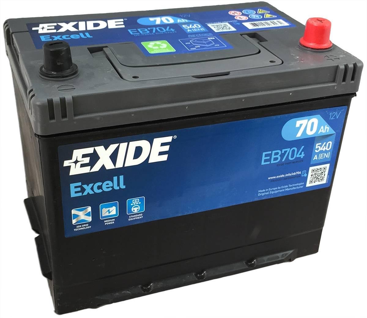 Аккумулятор Exide Excell 70 R+