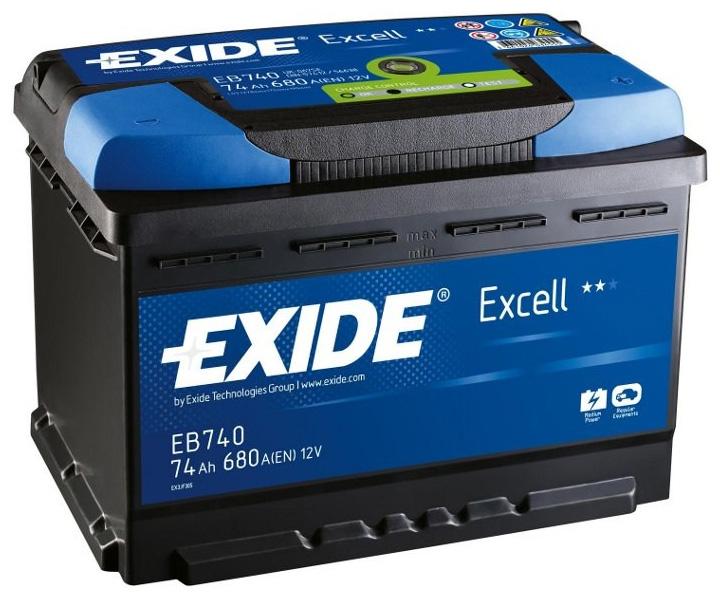 Аккумулятор Exide Excell 74 R+
