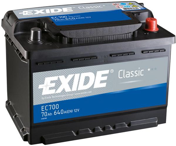 Аккумулятор Exide Classic 70 R+