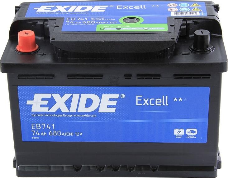 Аккумулятор Exide Excell 74 L+