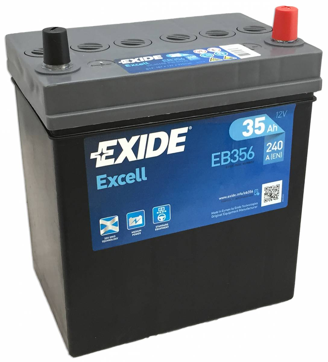 Аккумулятор Exide Excell 35 R+