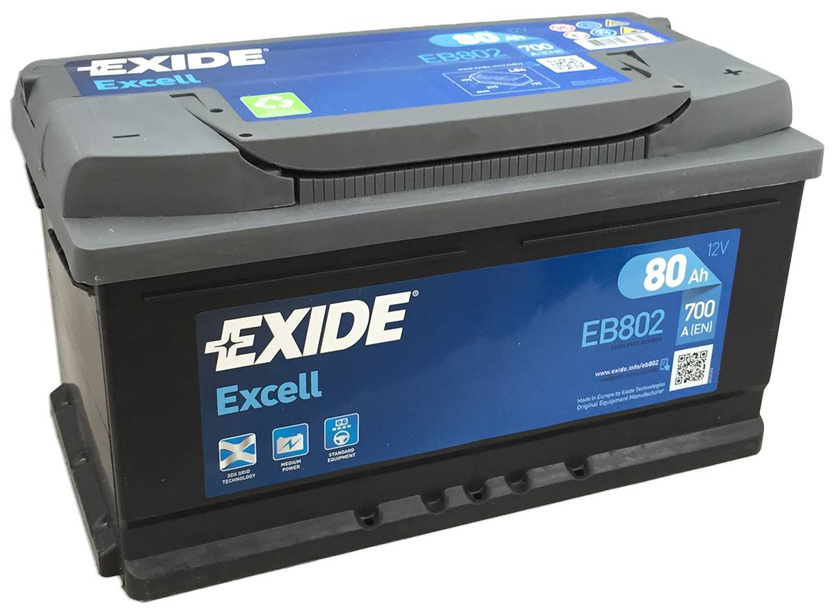 Аккумулятор Exide Excell 80 R+