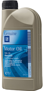 Масло моторное General Motors Dexos 2 5W-30, 1 л.