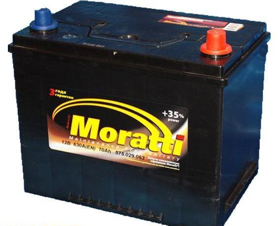 Аккумулятор Moratti 75R+