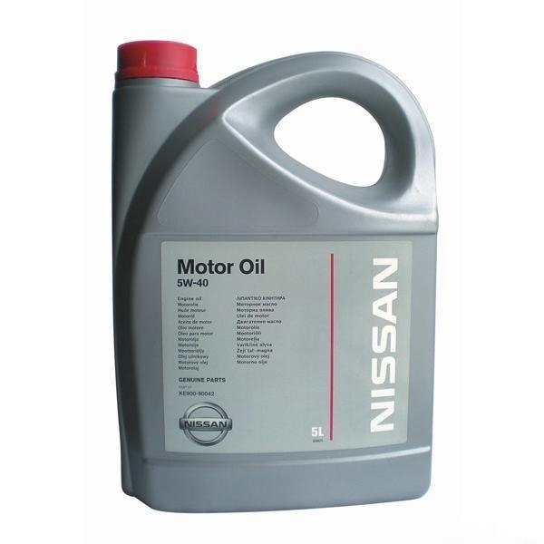 Масло моторное Nissan Motor Oil 5W-40 A3/B4, 5 л.