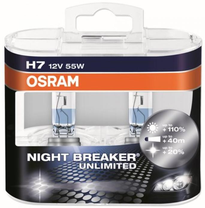 Лампы галогеновые Osram Night Breaker Unlimited +110%