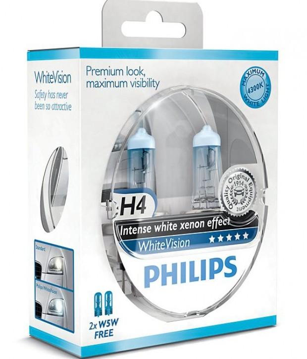 Лампы галогеновые Philips WhiteVision