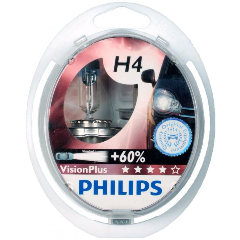 Лампы галогеновые Philips VisionPlus H4, 12342VPS2