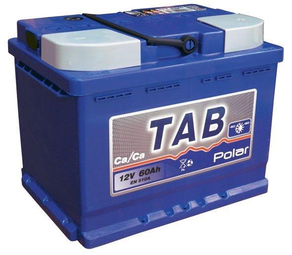 Аккумулятор автомобильный Tab Polar Blue 60A, R+