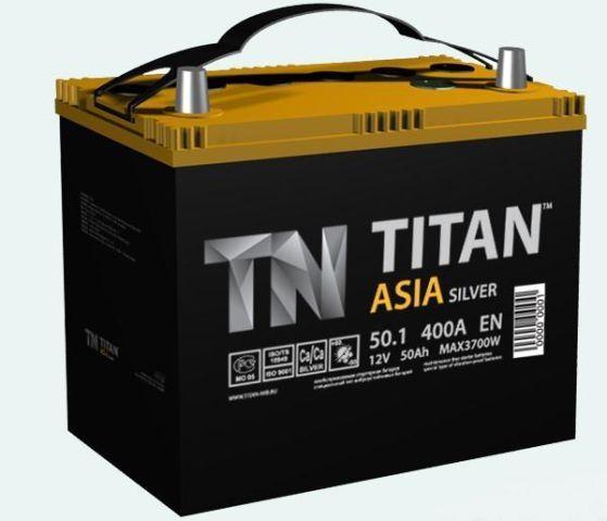 Аккумулятор TITAN Asia Silver 50 L+