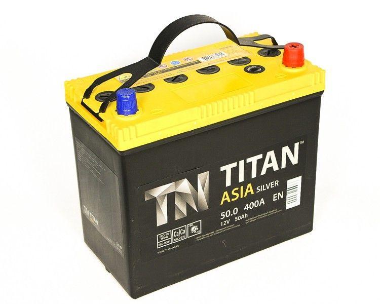 Аккумулятор TITAN Asia Silver 50 R+