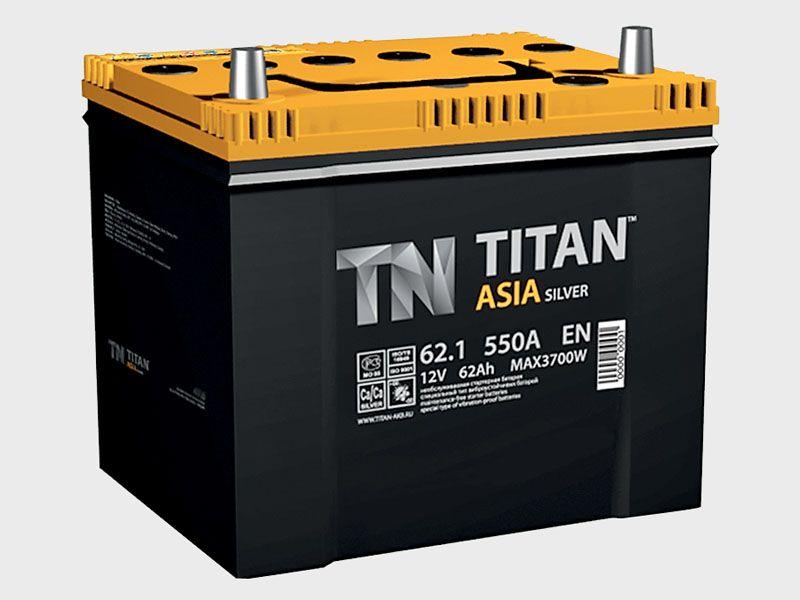 Аккумулятор TITAN Asia Silver 62 L+