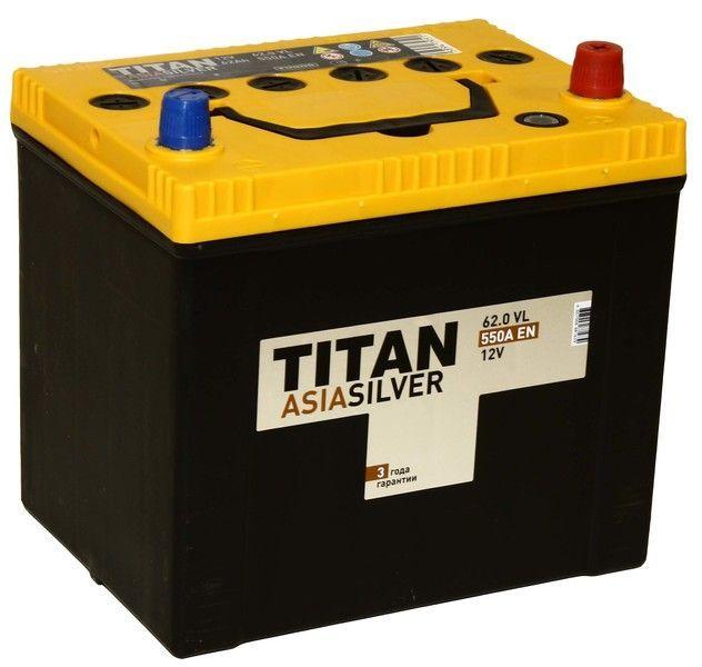 Аккумулятор TITAN Asia Silver 62 R+