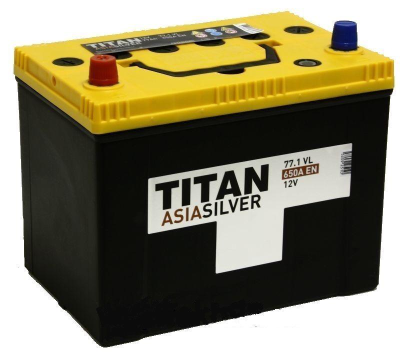 Аккумулятор TITAN Asia Silver 77 L+