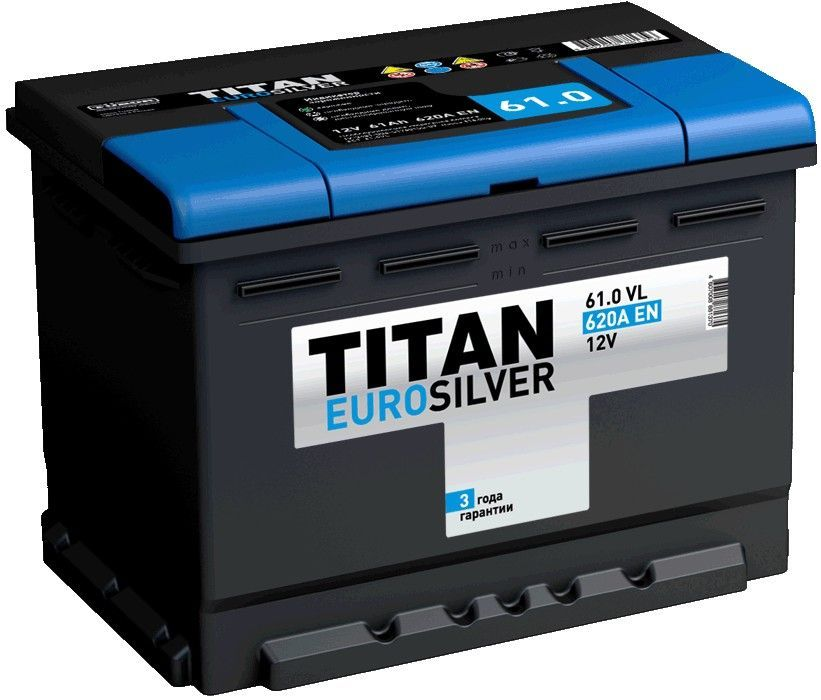 Аккумулятор TITAN EURO Silver 61 R+