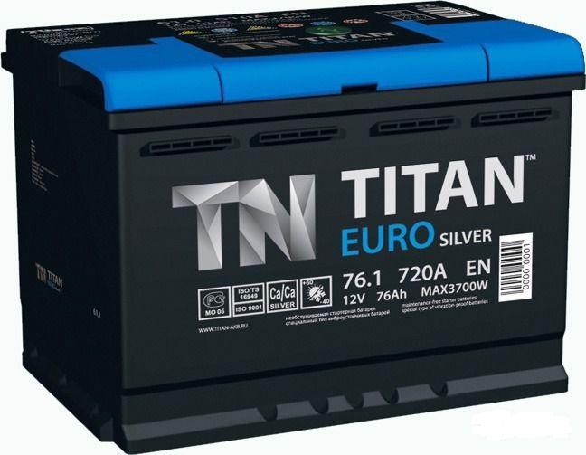 Аккумулятор TITAN EURO Silver 76 R+