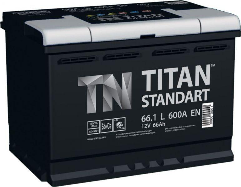 Аккумулятор TITAN Standart 66 R+