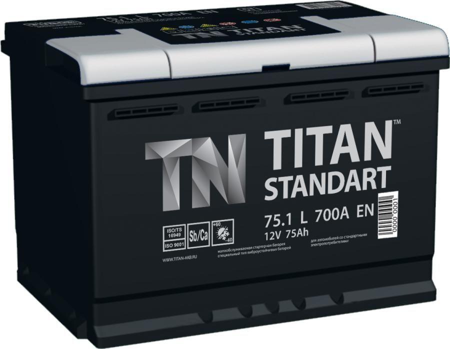 Аккумулятор TITAN Standart 75 L+