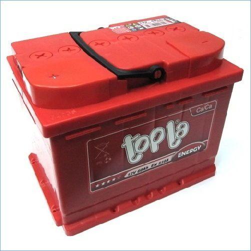 Аккумулятор автомобильный Topla Energy 60A, L+