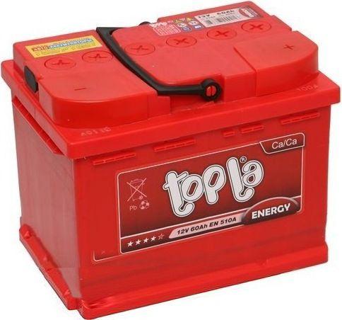 Аккумулятор автомобильный Topla Energy 60A, R+